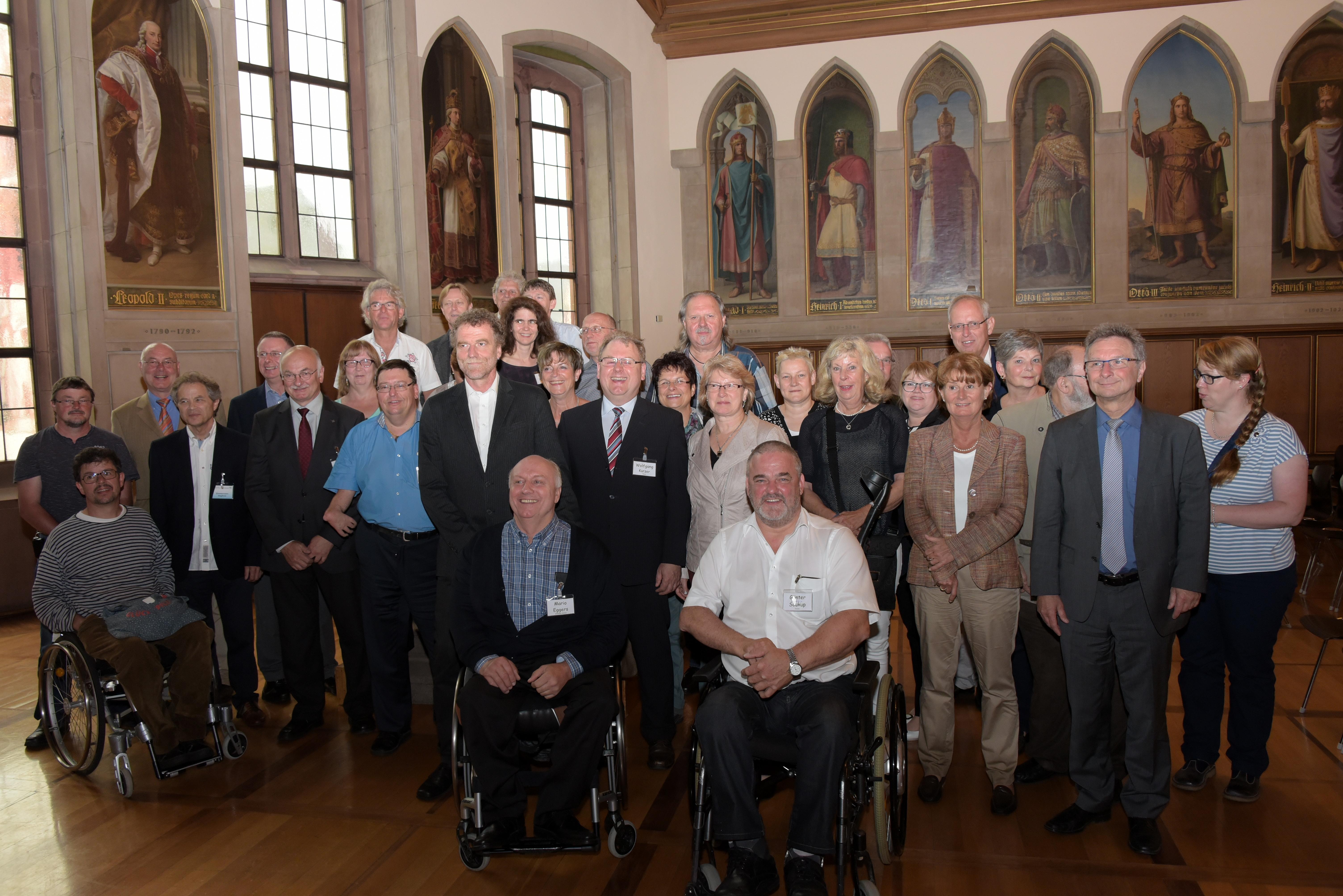 Gruppenfoto: Empfang im Römer, 14.06.2016